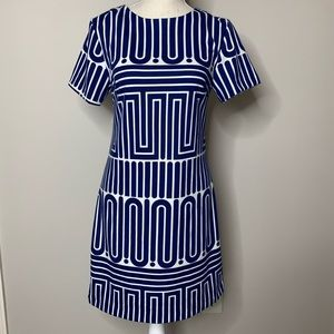 Trina Turk Blue / White Dress Size Small